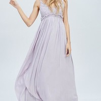Something Special Crochet Maxi Dress - Lilac