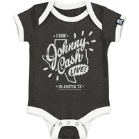 Johnny Cash Boys' Bodysuit Grey