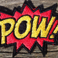 POW! Embroidered Patch iron on sew on glue on comic book fun