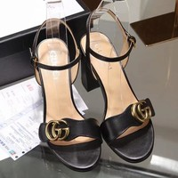 GUCCI Women Fashion Buckle Sandals Heels Shoes