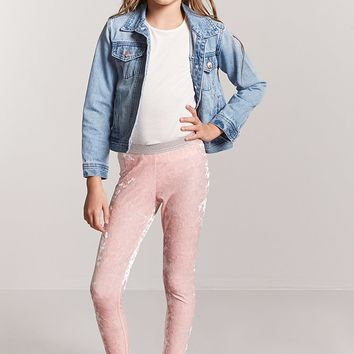 Girls Velvet Leggings (Kids)
