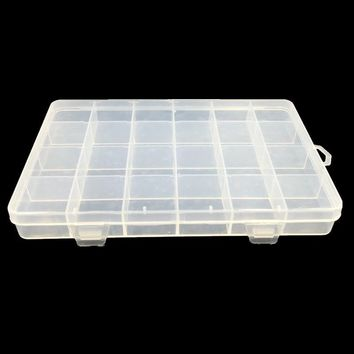 Transparent Plastic Rectangle Storage Boxes Beads Powder Pill Carrying Case Container Holder 205x138x23mm