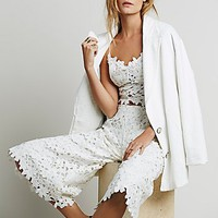 Line and Dot Womens Lace Coulotte Set