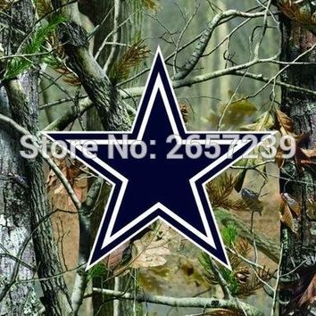 Dallas Cowboys Camo real tree logo Flag 3x5FT NFL  banner150X90CM 100D  Polyester brass grommets custom flag, Free Shipping