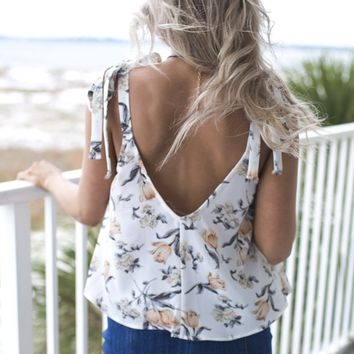 Gone With You Ivory Flare Top