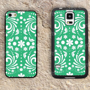 Green classic design patterns iphone 4 4s iphone  5 5s iphone 5c case samsung galaxy s3 s4 case s5 galaxy note2 note3 case cover skin 155