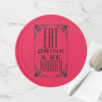 EAT DRINK & BE MARRIED WEDDING CAKE STAND