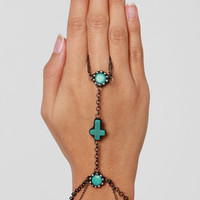 Gypsy Junkies Turquoise Harness Bracelet