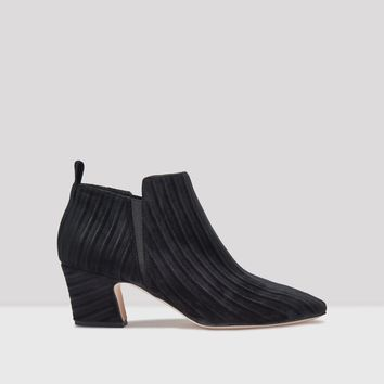BILLIE BLACK VELVET STRIPE BOOTS