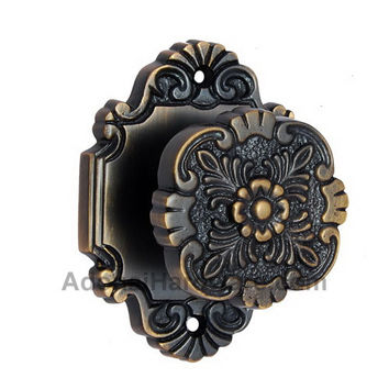 Cephas Brass Door Knob with Rose