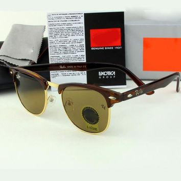3016 clubmaster Ray ben sunglasses with logo and original box brand designer