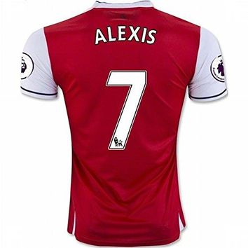 2016 2017 Arsenal 7 Alexis Sanchez Home Football Soccer Jersey In Red For New Season