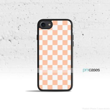 Checkerboard Apricot Phone Case Cover for Apple iPhone iPod Samsung Galaxy S & Note