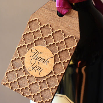 QuatreFoil Wooden Gift Tags -  Thank You Gift Tags - Fall Gift Tag (Set of 6)