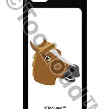 Silly Cartoon Horse Head iPhone 5 / 5S Grip Case  by TooLoud