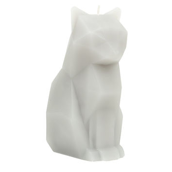 Pyropet Kisa Grey Skeleton Cat Candle