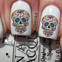 Nail WRAPS Nail Art Water Transfers Decals - Sugar Skull - S357