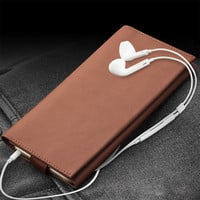 QIALINO Case For iPhone 6  6s plus Wallet Pouch for iPhone 7 genuine leather Note 5 5.5 inch Card Slot Luxury Phone Bags & Cases