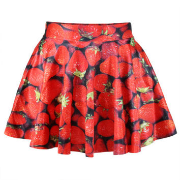 2016 Hot Sale Green Leaf Fashion Summer Style Easiness New Casual Women Pleated Skirts High Waist Skirt Free Shipping X-147