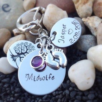 Personalized Midwife thank you gift - Midwife jewelry - Midwife graduation gift - midwife service gift - midwife birthing gift