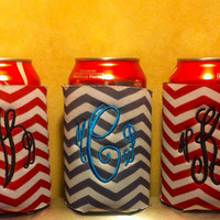 Chevron can/bottle koozie by FiveTiaras on Etsy