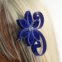Royal Blue Hair Accessories for a Wedding, Royal Blue Wedding Hair Accessory, Cobalt, Ultramarine