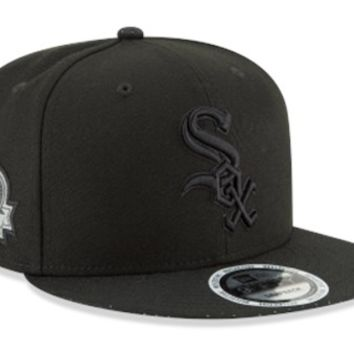 Men's Chicago White Sox Patched Perf 9FIFTY Adjustable Snapback Hat By New Era