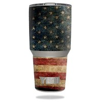Protective Vinyl Skin Decal for YETI 30 oz Rambler Tumbler wrap cover sticker skins Vintage Flag DECAL ONLY