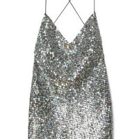 Pewter Mirror Sequin Tank Dress