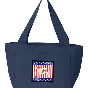 USA Patriotic Jack Russell Terrier Lunch Bag BB3307NA-8808