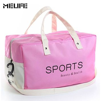 MELIFE Waterproof Sports Fitness bag large capacity gym bags Women Men Outdoor combo dry wet Swimming sport portable package