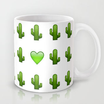 Cacti Emoji Love Mug by Gretchen M.