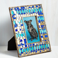 Mosaic Like you Mean It Frame in Aqua | Mod Retro Vintage Decor Accessories | ModCloth.com