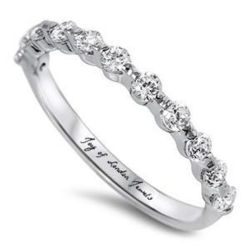 A Perfect 1.9TCW Russian Lab Diamond Wedding Band Ring