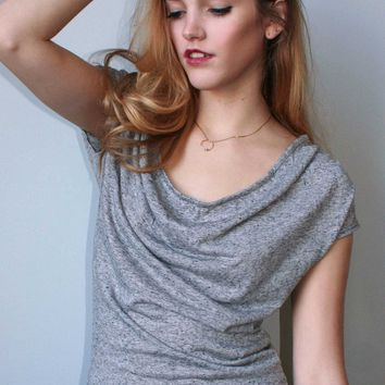 The Drapey Top — Slate Blue or Granite