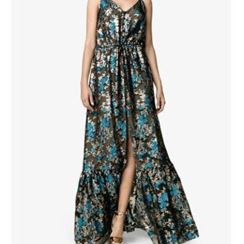 LANVIN | Sleeveless Floral Fil Coupé Dress | Womenswear | Browns Fashion