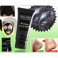 New Deep Cleansing Purifying Peel Off Mud Blackhead Face Mask Black Mask Remove Black Head Makeup Beauty +Free Gift Random Choker