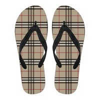 Men's Flip Flops Inspired by Burberry