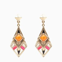 Cab Accented Tribal Drop Earring