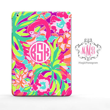 Tropical Lulu Juice Lilly Pulitzer Monogram iPad Air Case, iPad Mini Case