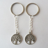 Two tree of life keychains, best friends ,BFF