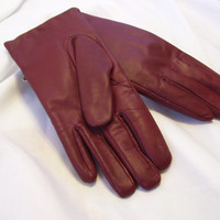 Sale Additional 25% Off Red Gloves Genuine Leather Isotoner Thinsulate Lined Sized 7.5 Winter Resort Cruise Wear