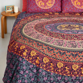 brushed cliab textile boho dp home queen fadfay bedding purple set duvet bohemian style ac com cover amazon