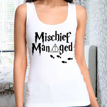 mischief managed harry potter women tank for women tank men tank polyester cotton tank