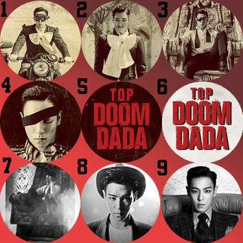T.O.P (BigBang) Doom Dada Bottle Cap Necklace KPOP (9 Styles)