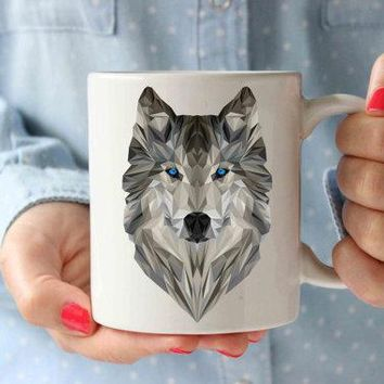 Coffee Mug | Geometrical Wolf Mug