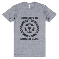 Property Of Soccer Club Shirt-Unisex Athletic Grey T-Shirt