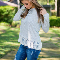 Lacey Lou Hoodie, Gray