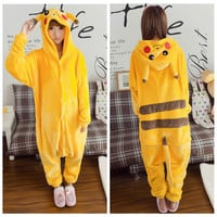 Womens Mens Unisex Adult Fleece Animal Onesuit Pyjamas Cosplay Costumes Nightwear