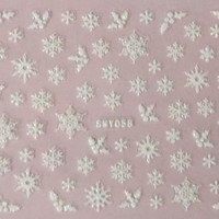 White Snowflake Christmas Winter Nail Art Sticker Decal